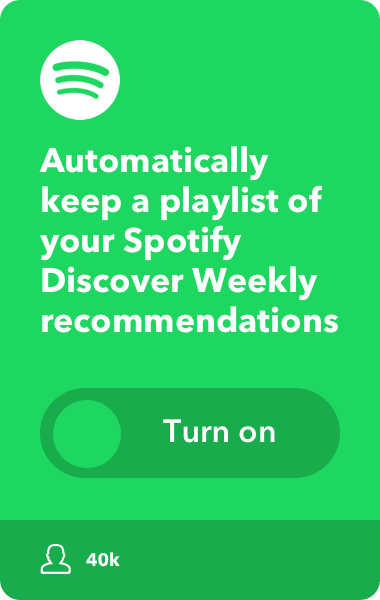Automatically keep a playlist of your Spotify Discover Weekly recommendations.