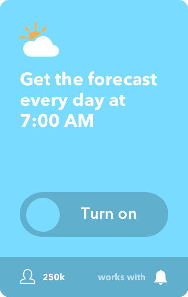 Get weather forecast every day at 7:00 AM