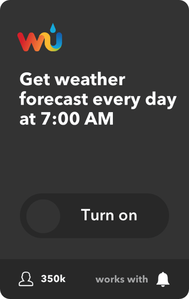 Get the weather forecast every day at 7:00 AM