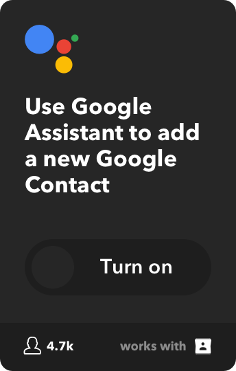Use Google Assistant to add a new Google Contact
