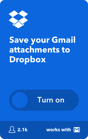 Save your Gmail attachments to Dropbox
